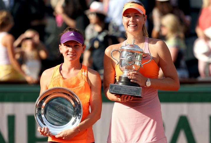 Maria Sharapova and Simona Halep