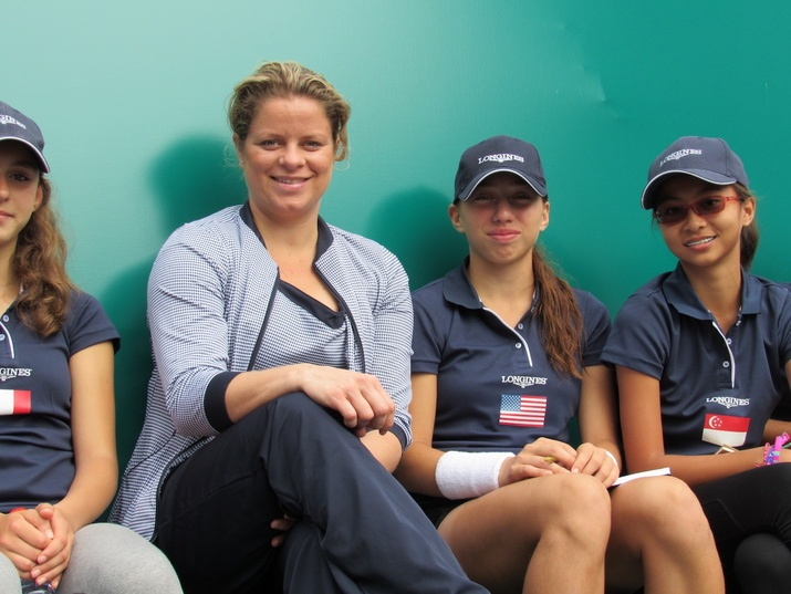 Nikki Yanez and Kim Clijsters