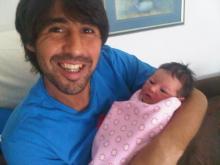 Marcos Baghdatis baby
