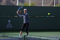 On The Practice Courts at Indian Wells