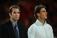 Rafael Nadal and Pete Sampras Australian Open 2014
