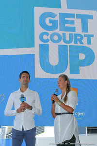 Novak Djokovic and Victoria Azarenka Australian Open 2014 Draw Ceremony