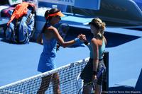 Ana Ivanovic and Eugenie Bouchard Australian Open 2014