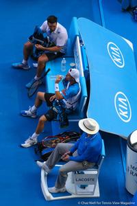 Patrick Rafter and Lleyton Hewitt Australian Open 2014
