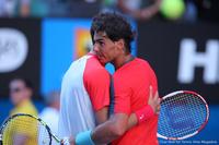Rafael Nadal and Grigor Dimitrov Australian Open 2014