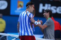 Tomas Berdych and David Ferrer Australian Open 2014