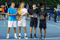 Robert Lindstedt, Lukasz Kubot, Eric Butorac, Raven Klaasen Australian Open 2014