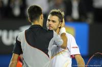 Stanislas Wawrinka and Novak Djokovic Australian Open 2014
