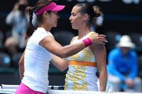 Li Na and Flavia Pennetta Australian Open 2014