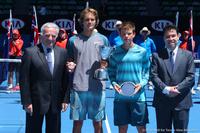 Alexander Zverev and Stefan Kozlov Australian Open 2014