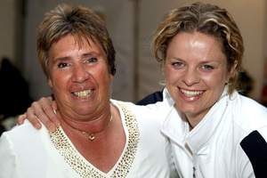 Rosie Casals and Kim Clijsters