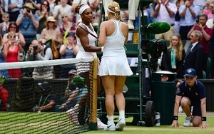Sabine Lisicki and Serena Williams