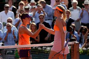 Maria Sharapova and Simona Halep