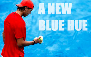 A New Blue Hue - A clay court contrasting not only in color, but tradition.