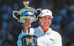ennifer Capriati:  American tennis star and former world No. 1 Jennifer Capriati will receive the highest honor in the sport of tennis, the induction to the International Tennis Hall of Fame. In addition to her world No. 1 status, Capriati's successful career featured an Olympic gold medal, three Grand Slam titles, a Fed Cup title with the United States team and an ability to stage remarkable comebacks. Capriati cracked the world top-10 in 1990, her first season on tour, and in October 2001, she became the