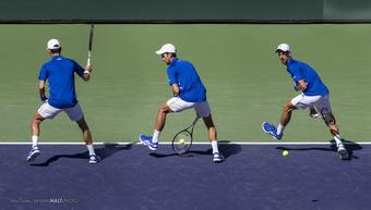 Novak Djokovic Tweener